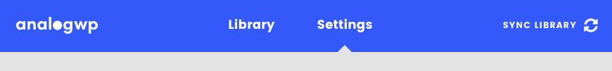 Analog templates settings tab