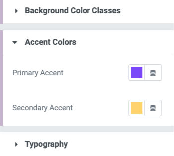 Primary and secondary color in Elementor Theme Style